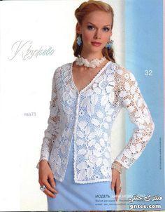 OUTSTANDING Irish crochet jacket pattern - unfortunately without layout <3 <3 <3