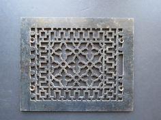 Antique Iron Grate // Vintage Art Nouveau Pattern by thisattic