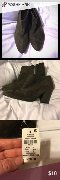 NWT olive bootie heels Super cute size 9 booties from Primark Primark Shoes Ankle Boots & Booties