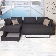 Fab.com | Vetro Sofa Bed L-Facing Chaise