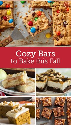 The change of season calls for cozy treats! These bar recipes are our picks for fall's best crowd-sized sweets.