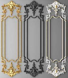 boiserie molding max - New Deko Sites Classic Interior, Home Interior Design, Diy Mirrored Furniture, Door Design, House Design, Plafond Design, Decorative Plaster, Wall Molding, Carving Designs