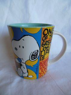 Peanuts Snoopy Charlie Brown Hate to see the Sun Go Down Coffee Tea Mug Cup New