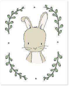 Woodland Art -- Woodland Nursery Art -- Portrait Of A Rabbit -- Bunny Art -- Woodland Animal Art, Children Art, Kids Wall Art, Bunny Picture. Woodland Art, Woodland Nursery, Woodland Animals, Bunny Nursery, Nursery Art, Art Wall Kids, Art For Kids, Art Children, Wall Art