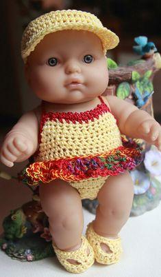 PDF PATTERN Crochet 9.5 10 inch Berenguer Doll by charpatterns
