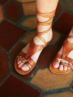 Free People Oliviera Wrap Sandal at Free People Clothing Boutique