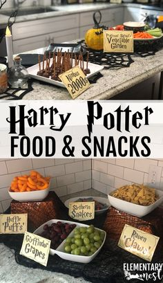 Hosting a Harry Potter Party. I recently hosted a Harry Potter Party and wanted to share my favorite Harry Potter Themed Party Ideas here! Check out my Harry Potter Decor Inspiration, Harry Potter Themed Food, andy Harry Potter Themed Games! Harry Potter Snacks, Baby Harry Potter, Baby Shower Harry Potter, Harry Potter Weekend, Harry Potter Motto Party, Harry Potter Thema, Cumpleaños Harry Potter, Harry Potter Halloween Party, Harry Potter Wedding