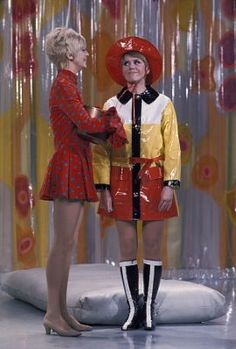 Laugh-In - Goldie Hawn & Judy Carne..I loved that show.  Laughed until you cried!!