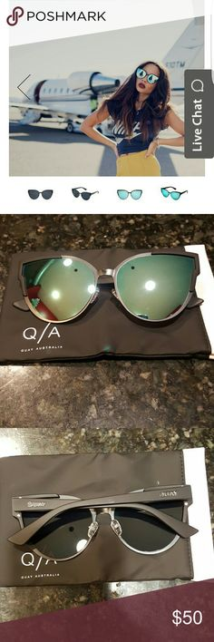 Quay Game On sunnies I got these as a gift and they aren't my style, albeit very cool ??! Modern sporty take on a cat eye. You'll be loving these this spring/summer! They carry these at Nordstrom, Quay, Bloomingdales and Zappos for $60! This is the best price, right here ?? Quay Australia Accessories Sunglasses