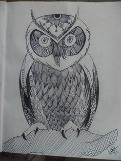 BUho Zentangle ARt...  By LJRM