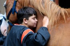 The campers love the horses at camp!