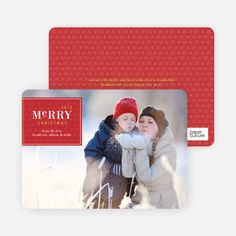 Merry Christmas Badge – Modern Holiday Photo Card by Paper Culture