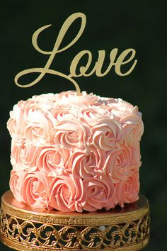 Love swirl wedding cake topper i do someday pinterest gold love wedding cake topper wooden cake topper engagement cake topper junglespirit Choice Image
