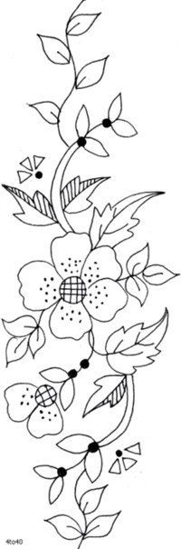 Risk to embroider. Blackwork Embroidery, Hand Embroidery Stitches, Embroidery Art, Cross Stitch Embroidery, Applique Patterns, Textile Patterns, Bordado Popular, Flower Embroidery Designs, Brazilian Embroidery