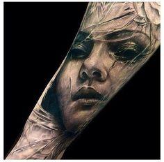 lovely #tattoo portrait ink sleeve