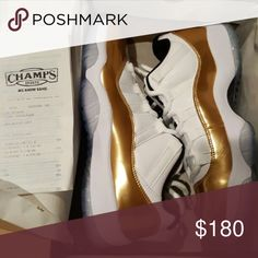 """Jordan 11 Closing Ceremony """"Gold Coin"""" ❗️READ BELOW❗️ - I have various sizes in each shoe. All Deadstock (brand new) authentic sneakers. If you'd like additional pictures in your specific size or to check availability please contact me by my phone number which is (917) 341-1595. If you're serious about buying a shoe text me an offer and we'll talk about it. NO TRADES. - Beware of other Poshers as they have been scamming people. I'm a legit seller. Giving the best deals. If you want to bundle…"""
