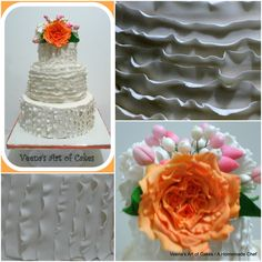 Ruffles Wedding Cake - Veena's Art of Cakes