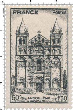France Stamp - Cathédrale Saint-Pierre d'Angoulême (1944)