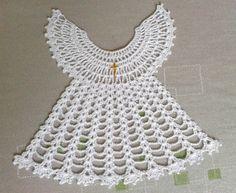 biała szatka do chrztu w Magnolia-dziergana na DaWanda.com