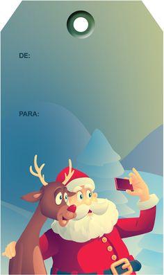 Tags de Natal Papai Noel 5