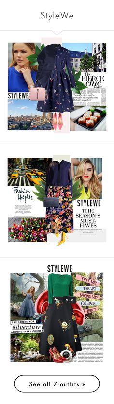 """StyleWe"" by brigitte-klaudia ❤ liked on Polyvore featuring Eddie Borgo, Fendi, TAXI, Nika, H&M, Kate Spade, Salvatore Ferragamo, Semilla, Balmain and Miu Miu"