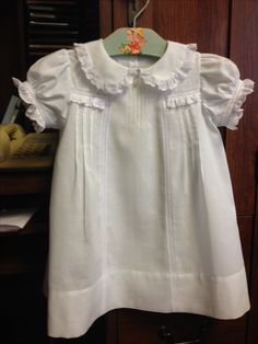 Just finished this little dress,inspired by an old baby dress I got off of Ebay