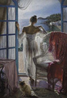 View 148 Exquisite Paintings by Spanish Artist Vicente Romero Redondo Spanish Artists, Classical Art, Fine Art, Erotic Art, Aesthetic Art, Figurative Art, Female Art, Fantasy Art, Art Drawings
