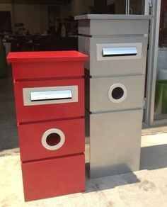 Metal Letterboxes in small and large. Many colours available. Yes! Would love to get this in green to match our front door!