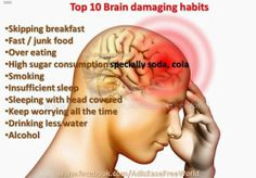 Health Tips to Save Your Wealth: Most Brain damaging Habits