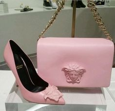 Versace bag and shoe
