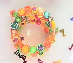 Citrus Splash Polymer Fruit Charm Memory Bracelet with Lime, Lemon, Oranges and Others, Perfect gift for Her or Friend CCB101506 by BlingItOutLoudCharms on Etsy