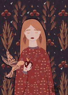 Lidia Tomashevskaya on Behance Illustration Artists, Illustrations, Pottery Painting Designs, Posca Art, Anime Art Girl, Cartoon Art, Cute Art, Art Inspo, Character Art