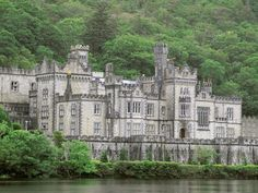 Kylemore Abbey, Connemara,  Ireland (near Galway) - castle turned into a girls' boarding school.  Part of it can be toured.