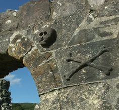 Knights Templar legends - skull and crossbones to-day at Ardchattan Priory  http://www.bayviewkentallen.co.uk/robert-the-bruce-knights-templar-in-argyll.html