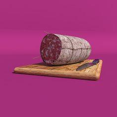 #c4d #vertexmap #cgi #salamenostrano #salami #meat #choppingboard #knife #cinema4D #software #technique #wood #food #instarender by girmik