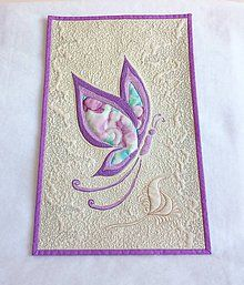 Obrázky - Motýľ 2 - textilný obraz - 7050825_ Disney Characters, Fictional Characters, Aurora Sleeping Beauty, Embroidery, Disney Princess, Needlepoint, Cut Work, Disney Princes, Disney Princesses