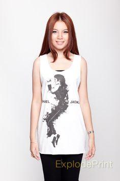 Michael Jackson Shirt King of Pop Music Tank Top by ExplodePrint, $15.99