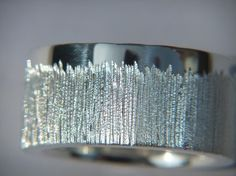 Handmade 925 Sterling Silver Ring with Chunky Etch by DOGSTONE