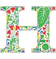 Letter h vector on VectorStock