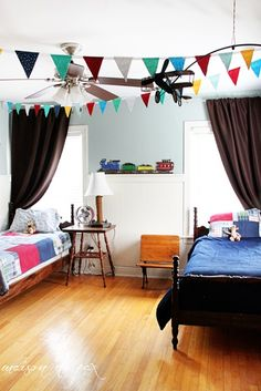 Boys Bedroom with Playful Banner
