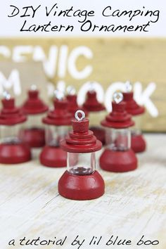 DIY Ornaments: Vintage Camping Lantern - Make this cute handmade vintage-inspired camping lantern for the Christmas tree this year.