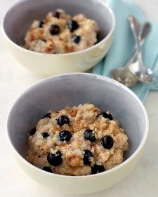 Breakfast Quinoa REVIEW: I didn't have blueberries, so I just did it with the cinnamon and sugar.  I didn't end up adding any extra sugar, cinnamon or milk and it was delicious.  I made half a recipe and I ate about half of that for breakfast.  Definitely a delicious, easy way to eat quinoa.