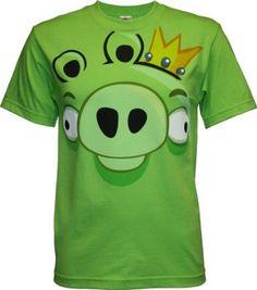 Abgry Birds green pig face shirt :P
