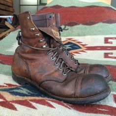 1960's Iron Rangers [straight-cut top], I believe these are the basis a Japanese designer worked from for the present day IR's design. TH