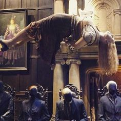 """About 250 body casts were made of actors for deaths, petrifications, and stunning spells. 