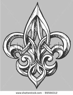 Fleur de lis, for my wife.