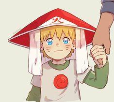 Naruto 🍥: Baby Naruto holds Minato's hand wearing Hokage Hat Naruto Uzumaki Shippuden, Naruto Kakashi, Kid Naruto, Wallpaper Naruto Shippuden, Naruto Cute, Naruto Shippuden Anime, Chibi, Otaku Anime, Manga Anime