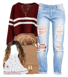 """12/11/15"" by clickk-mee ❤ liked on Polyvore featuring H&M, MICHAEL Michael Kors, Converse, Kate Spade and Banana Republic"