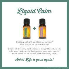 doTERRA Essential Oils Liquid Calm Serenity and Balance
