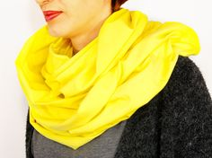 Infinity scarf / Women Scarf / Girl Scarf / Drool Scarf / Kids Scarf / Children's Scarves / Yellow / black / Spring / Fashion Scarf, by KUKUdesignPL on Etsy
